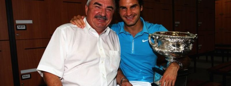 Roger Federer and his dad